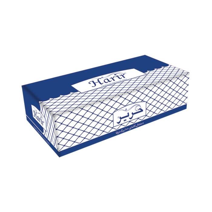 دستمال کاغذی جعبه ای 100 برگ دولایه